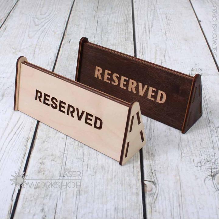 Табличка на стол двухсторонняя