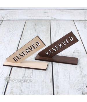 Табличка Reserved (стол заказан) (TB-003)