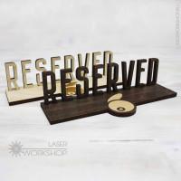 Табличка RESERVED (стол заказан) (TB-004)