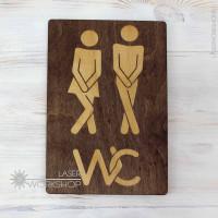 Табличка на дверь туалета (TB-027)