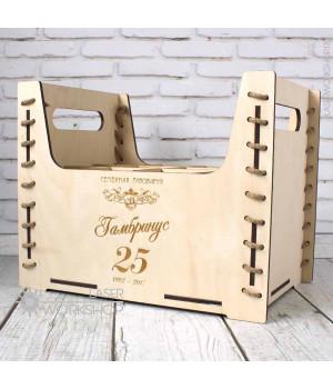 Ящик переноска для 12 ПЭТ бутылок емкостью 1 литр (TR-002)