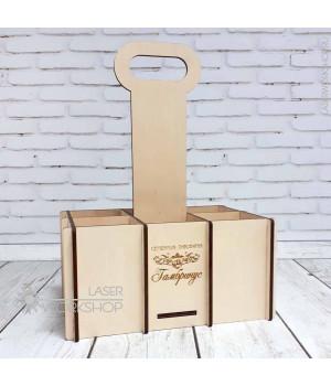 Ящик переноска для 6 ПЭТ бутылок по 1,5 литра (TR-003)